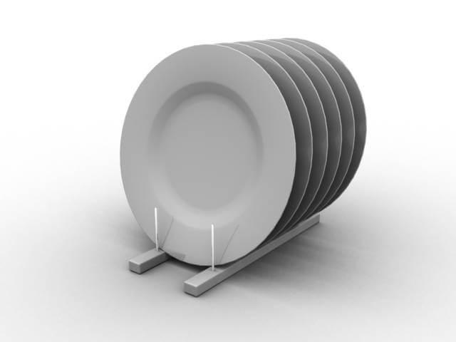 просто белые тарелки