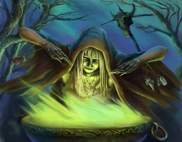 Убить ведьму во сне.