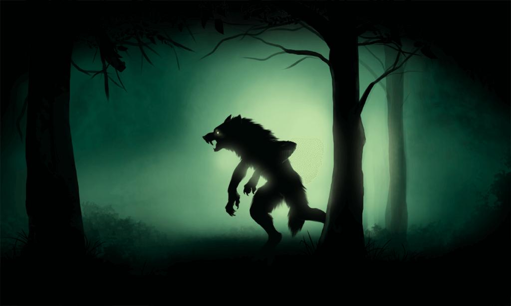 Оборотни в лесу, арт.