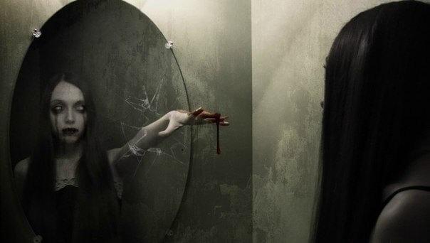 Зеркало страшилка, призрак в зеркале.