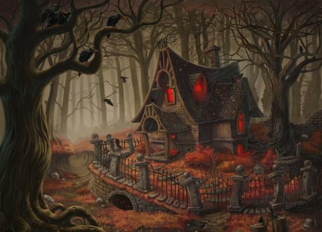 Домик лесной ведьмы.