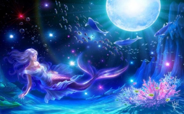 вид русалки мужской од небом