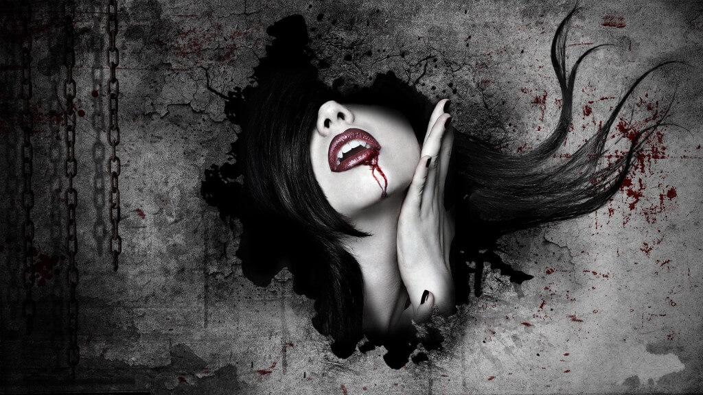 Вампир и черная магия.