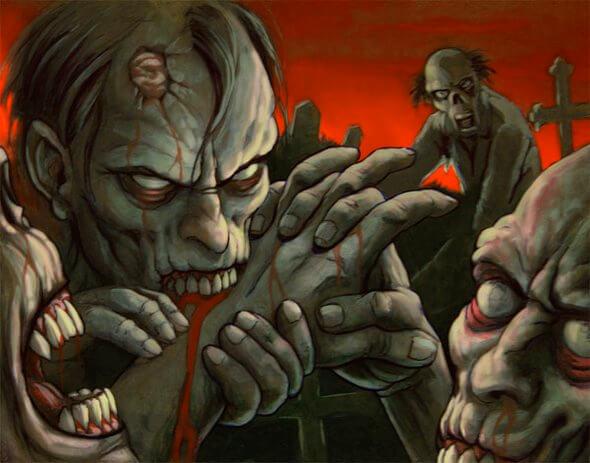 Зомби обычные.