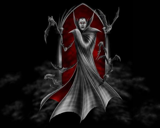 страшный вампир дракула.