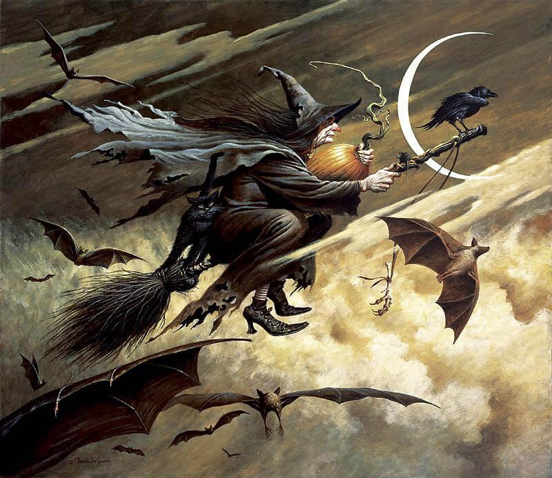 Ведьмы на вальпургиеву ночь и нечисть.