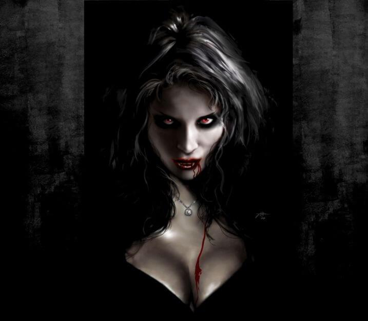 Вампиры арт, красиво.