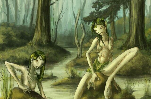 кикиморы в болоте.