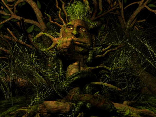 Леший в лесу