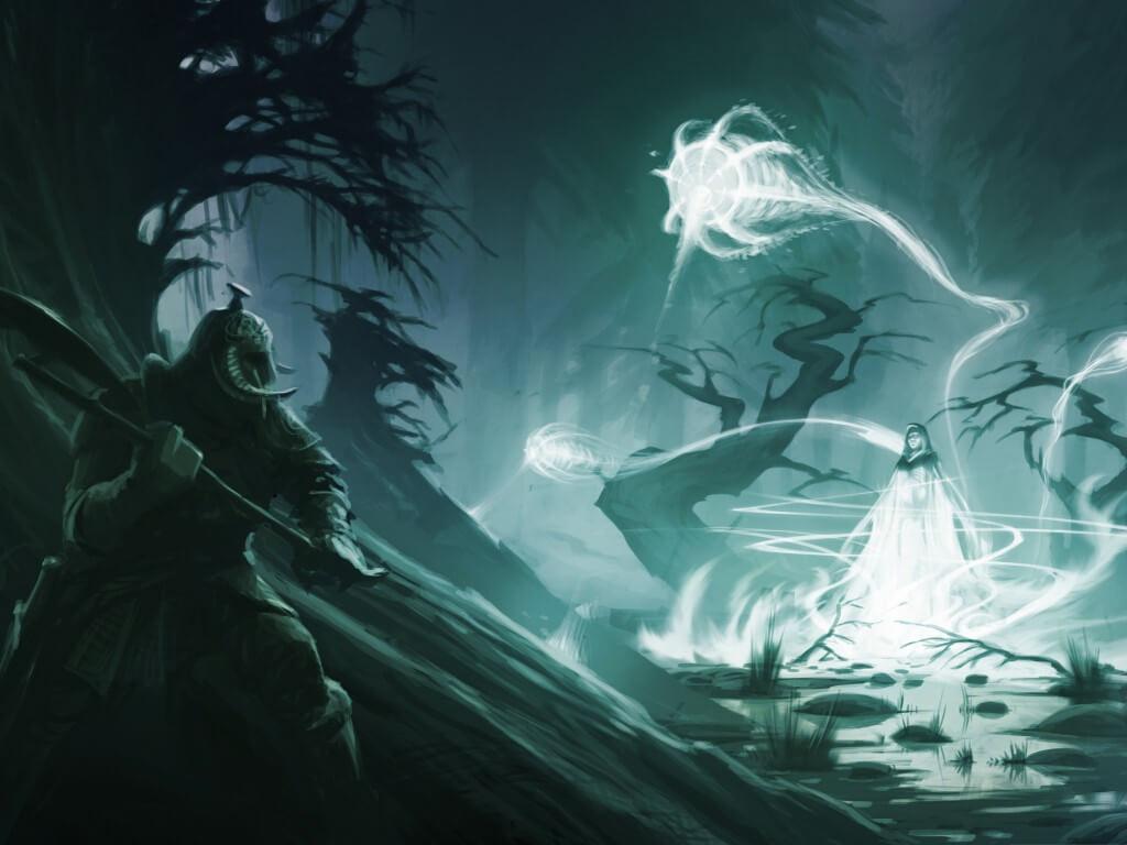 Духи в лесу на духов день