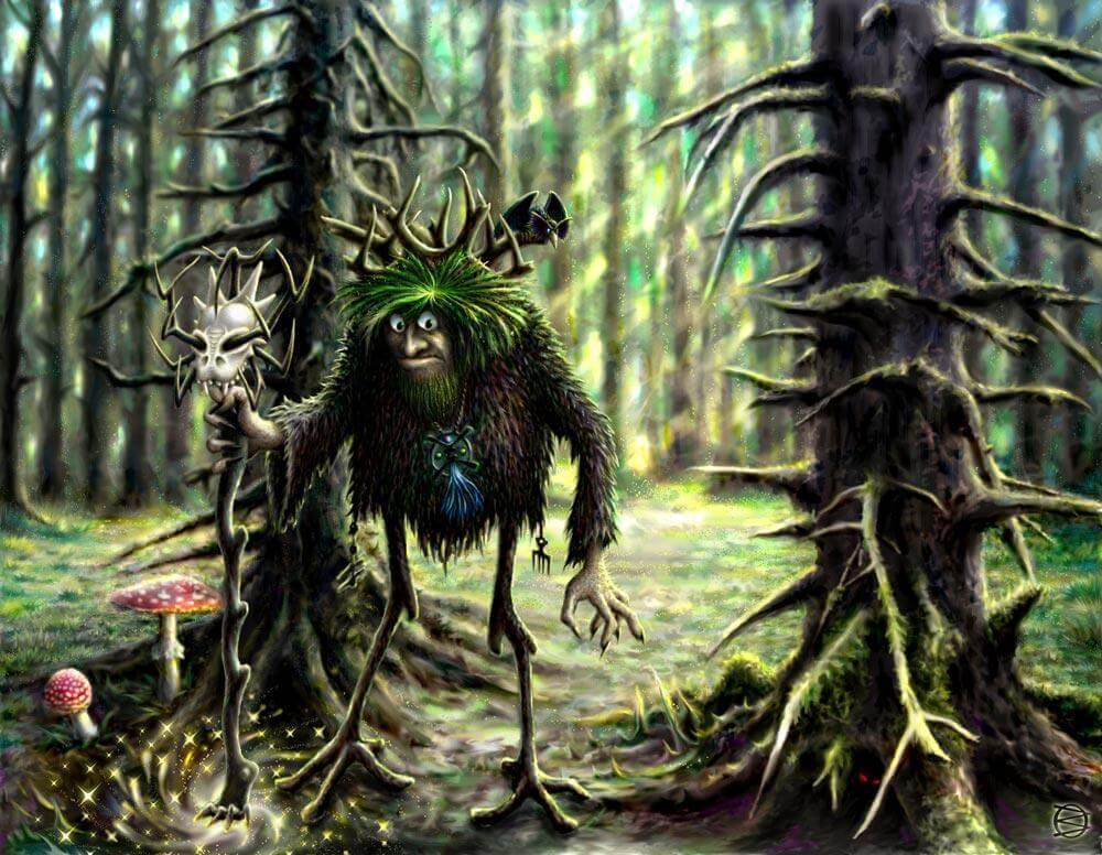 Духов день, дух в лесу.