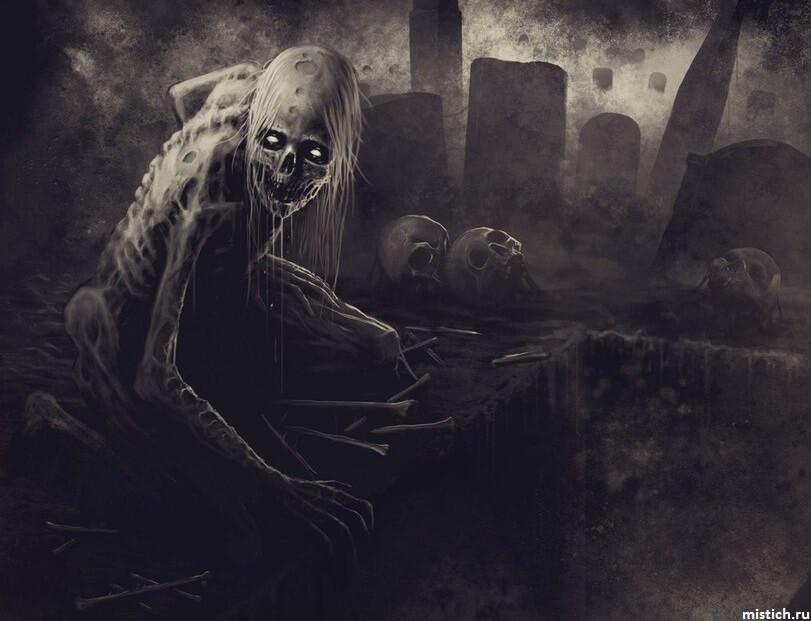 ведьма-вампир-на-кладбище