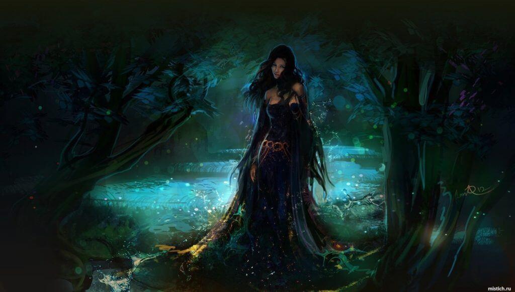 ведьма-в-лесу-красивая-арт-магия-волшебство
