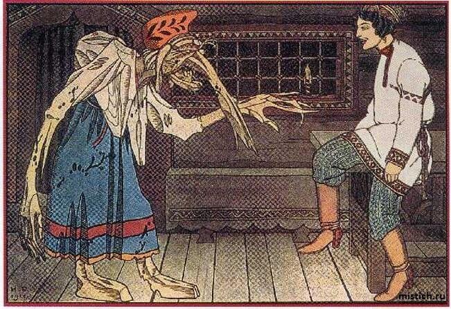Баба яга из сказок