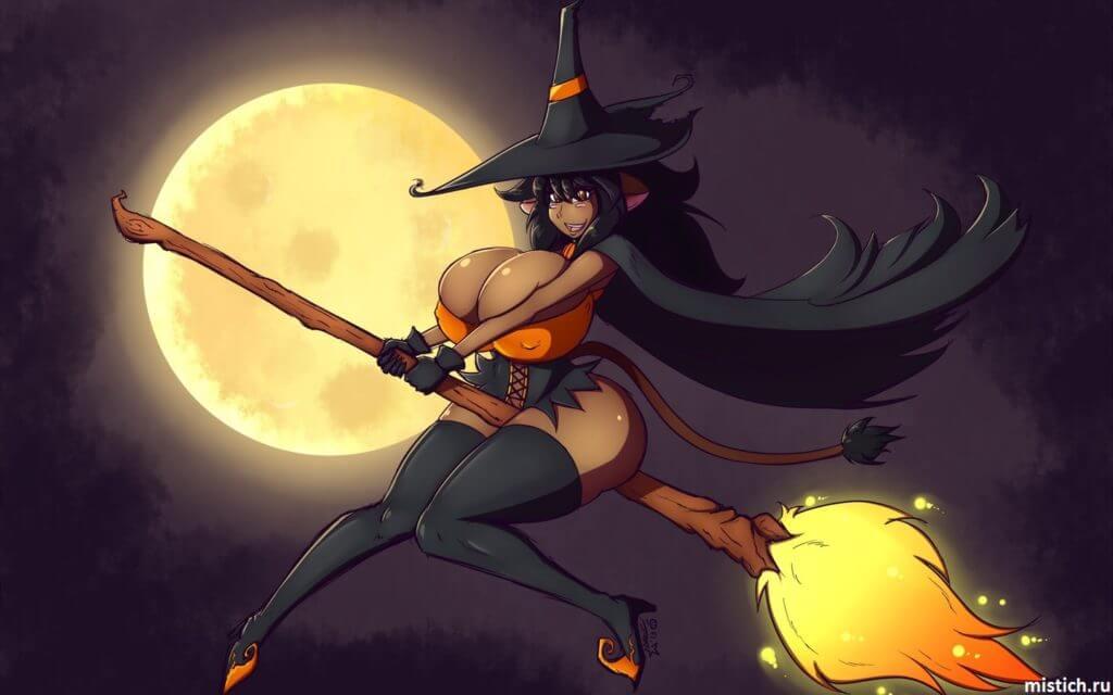 Ведьма верхом на метле
